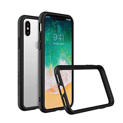 (RhinoShield Ultra Protective Bumper Case for [ iPhone X/XS ] CrashGuard, Military Grade Drop Protection for Full Impact, Slim, Scratch Resistant, Black)