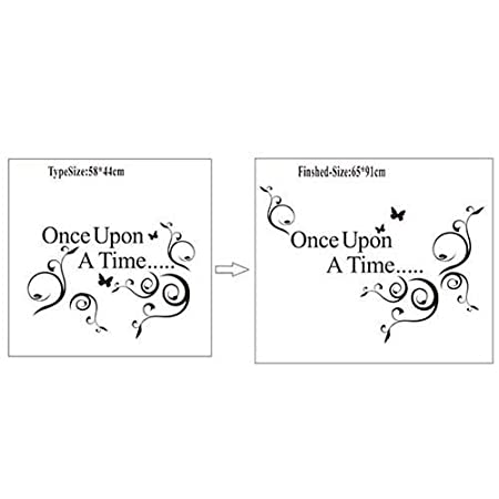 Once Upon A Time Wall Stickers Love Quote Wall Quote Wall Art Decal