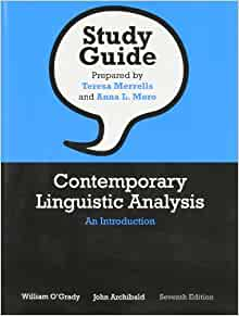 CONTEMPORARY LINGUISTICS INTRODUCTION AN