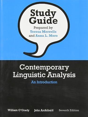 amazon com study guide for contemporary linguistic analysis an rh amazon com contemporary linguistic analysis study guide contemporary linguistic analysis study guide