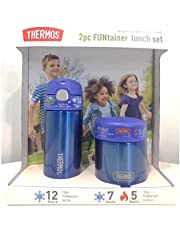 Thermos FUNtainer Lunch Set Bottle and Food Jar for Kids BPA Free Dishwasher Safe, 2 PC