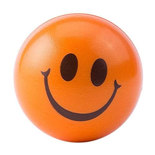 Junshion Happy Smile Face Anti Stress Relief Sponge Foam Ball Hand Wrist Squeeze Exercise