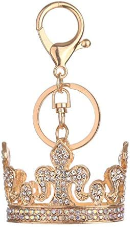 [해외]NATFUR Car Keyring Wallet Crystal Key Ring Handbag Keychain Fashion Bag Accessories Novelty for Women for Men Perfect Elegant Beautiful Fine | Color - Sliver Crown / NATFUR Car Keyring Wallet Crystal Key Ring Handbag Keychain Fashi...