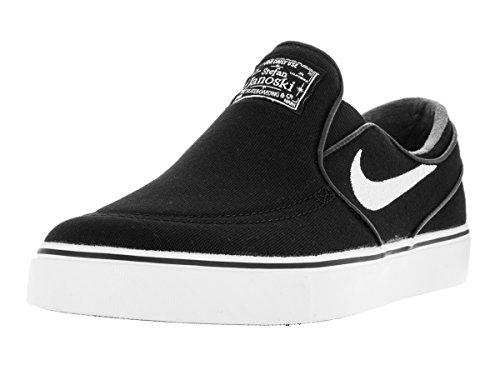 Nike Mens Zoom Stefan Janoski Slip Cnvs Black/white/black Skate Shoe (8)