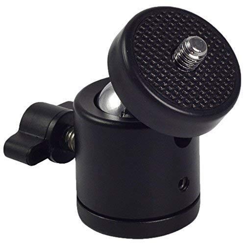 TECHNOVIC Mini Ball Head 1/4″ Screw DSLR Camera Tripod Ball Head Stand Support