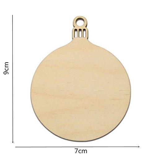Classic Pre Lit Christmas Tree - Christmas Ball Ornaments Christmas 10pcs Wooden Tags Decor Art Crafts DIY Scrapbooking Creative Wood Decoration Pendant (As Show)