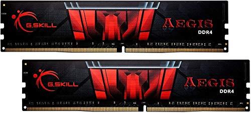 G.Skill AEGIS Series 32GB (2 x 16GB) 288-Pin SDRAM PC4-25600 DDR4 3200MHz CL16-18-18-38 1.35V Desktop Memory Model F4-3200C16D-32GIS