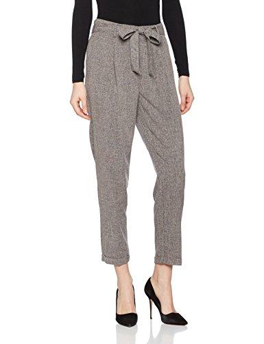 New Look Speckle Tie Waist, Pantalones para Mujer Grey (Mid Grey)