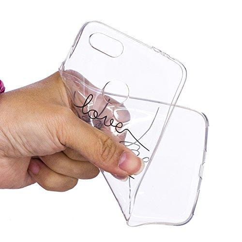 Cover para Huawei Enjoy 7 / P9 Lite Mini 5.0 ( No coincide Huawei Enjoy 7S ) , WenJie Transparente Accesorios Regalo TPU Regalo elegante y duradero suave Silicona Suave Funda Case Tapa Caso Parachoqu