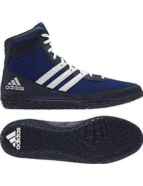 Adidas Mat Wizard Wrestling Shoes - Royal/White/Navy - 9.5