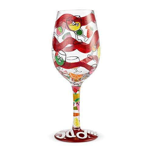 (Enesco 6004368 Designs by Lolita Sangria Too Artisan Wine Glass 15 oz. Multicolor )