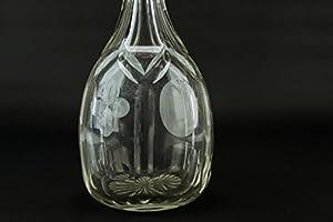 Grabado Decantador de vino tinto corte cristal Brandy Tapón de ...