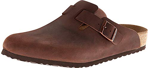 Birkenstock Unisex Boston Soft Footbed Habana Oiled Leather Clog 44 R (US Women's 13-13.5)