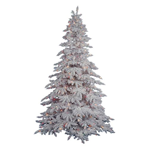Flocked Lime Fir Artificial Christmas Tree