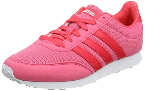 Femme 0 Rose White 0 Pink shock Baskets Red Racer Adidas real V footwear 2 CwqAAZ
