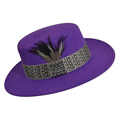 Bollman Hat Company Women 1980S Bollman Heritage Collection Uptown Girl Purple L/Xl