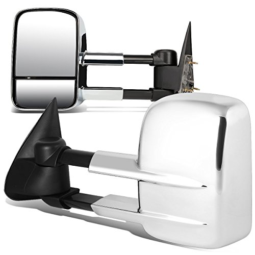 DNA MOTORING TWM-022-T222-CH Pair of Towing Side Mirrors (Driver & Passenger Sides)