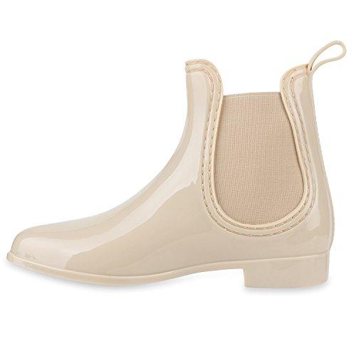 c479a3035dcbc4 Damen Stiefeletten Chelsea Boots Lack Gummistiefel Animal Print Blockabsatz Schuhe  Muster Glitzer Gummistiefeletten Flandell Creme ...