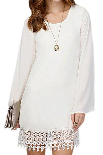 erdbeerloft - Vestido - Básico - Opaco - para mujer blanco