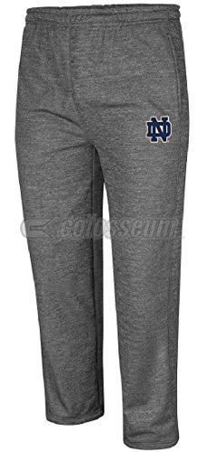 Notre Dame Fighting Irish Adult Heather Charcoal Rage 3 Sweatpants by Colosseum (Notre Dame Irish Workout Pants)
