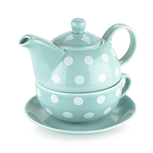 Chinese Teapot, Addison Polka Dot Ceramic Small Cute Tea For One