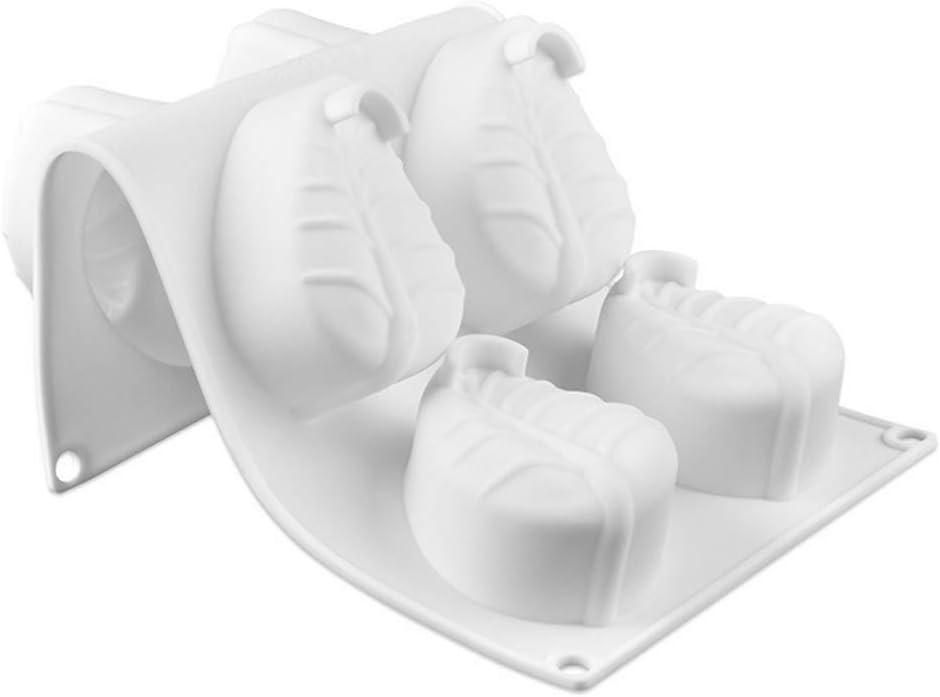 la fresa de 8 agujeros El molde de la torta de la crema batida del silic/ón moldea 3D moldea DIY