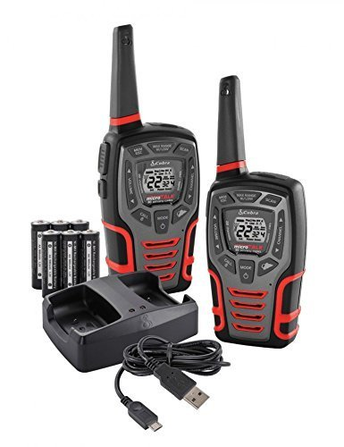 Cobra ACXT565 Walkie Talkie 28-Mile 22 Channel, Water Proof, Weather and Emergency Radio, Rechargeable Batteries by Cobra