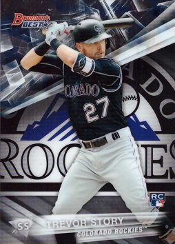 Amazoncom 2016 Bowmans Best Baseball 12 Trevor Story Rookie Card