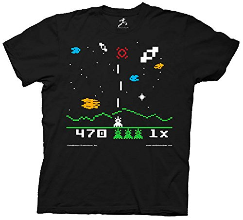 The Big Bang Theory Sheldon Cooper Astrosmash Intellivision Video Game Adult Black T-shirt (Adult X-Large) (Sheldon Tshirt Cooper)