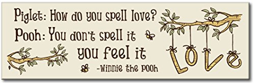 My Word! How Do You Spell Love - 5x16 Wooden Sign