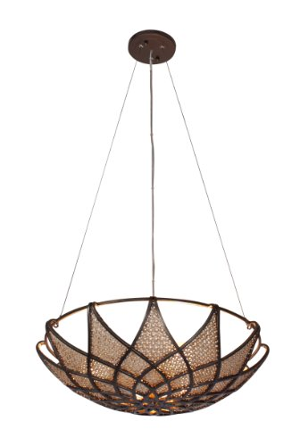 Bronze Bowl Pendant Light in US - 8
