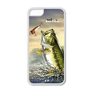 New Personalized Fishing Bass iphone 6 4.7 Plastic And TPU Silicone Back Wearproof & Sleek Case Cover