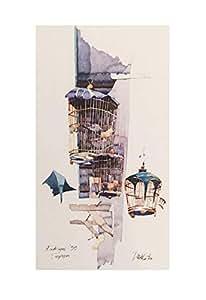 Birdcages Watercolour - Print on Paper