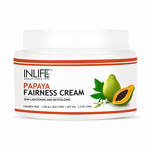 INLIFE Natural Papaya Fairness Cream, Moisturizer For Both Men and Women - 100 gm