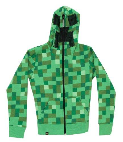 Minecraft Big Boys Creeper Premium Zip-up Hoodie