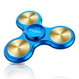ATESSON Fidget Spinner Toy 4-10 Min Spins Ultra Durable Stainless Steel Bearing High Speed Precision Metal Material Hand Spinner EDC ADHD Focus Anxiety Stress Relief Boredom Killing Time Toys