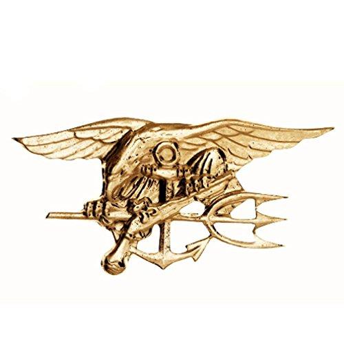 Gold US Navy Seals Osama Bin Laden Team 6 ST6 Trident Uniform Jacket Pin Medal (Osama Bin Laden Halloween Costume)