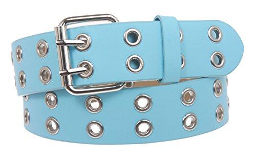 Two Row Grommets Fashion Belt Size: S/M - 32 Color: Blue