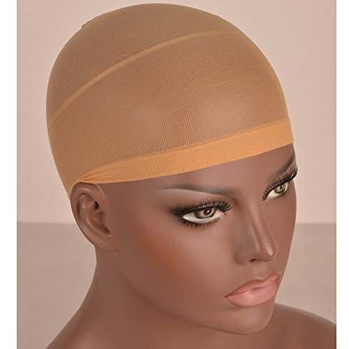 Stretchable Elastic Nylon Wig Caps for Chantiche Italian Yaki Lace Front Wigs Nude Color 5 Packs/Lot