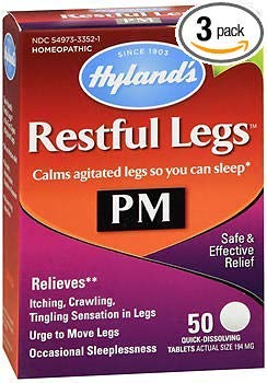 (Hyland's Restful Legs PM Quick Dissolving Tablets - 50 Tablets, Pack of 3)