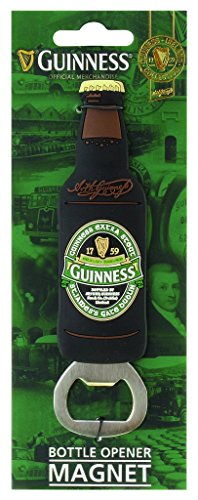Irish Fridge Magnets (Guinness Green Collection Bottle Opener Magnet - Beer Shaped Cap Remover)