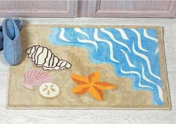 Beach Bath Rugs Roselawnlutheran - Beach themed bathroom rugs for bathroom decor ideas
