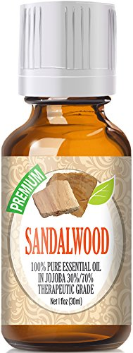 Sandalwood 100% Pure in Jojoba (30%/70% Ratio), Best Therapeutic Grade - 30ml (Best Sandalwood Perfume Oil)