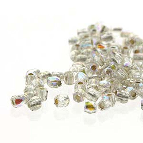 Fire Polish True2s 2mm Czech Glass Crystal Ab Silver Lined 600 Beads -