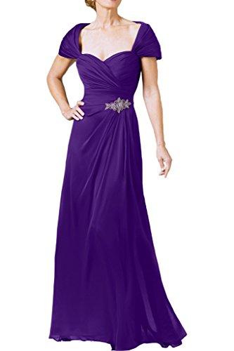 ivyd ressing Mujer Estilo Completo Corazón Forma a pelota de línea vestido largo Prom vestido fijo para vestido de noche morado