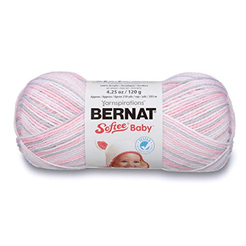 Bernat Softee Baby Yarn, Ombre, 4.25 oz, Gauge 3 Light, Pink Flannel (Bernat Yarn Baby Baby Softee Baby)