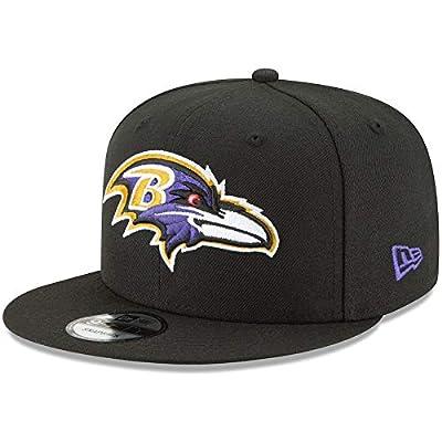 New Era Baltimore Ravens Hat NFL Black Team Color Logo 9FIFTY Snapback Adjustable Cap Adult One Size