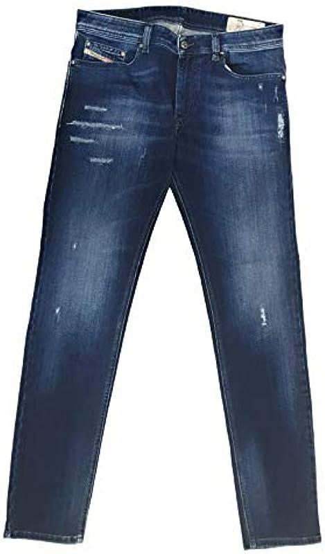 Diesel męskie dżinsy spodnie Thavar-XP Slim-Skinny Mens jeansy 00SECG R8FG4 stretch: Odzież