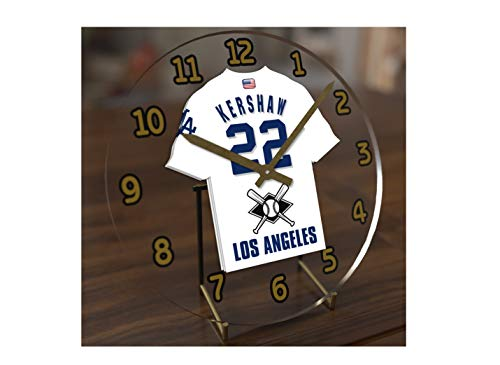 FanPlastic M L B Baseball Jersey Themed Clock - All National League Team Colours - Our Very OWN 'Let's GO' Range of Clocks !! (Let's Go Dodgers Edition) ()