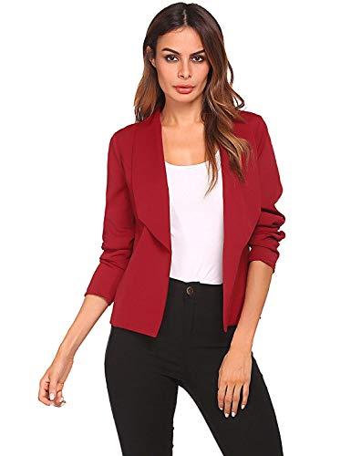 Lunga Business Outerwear Rot Manica Modern Classica Base Monocromo Elegante Cappotto Da Fit Slim Stile Giaccone Giacca Donna Tailleur Fashion Autunno Primaverile HwAY1qq4